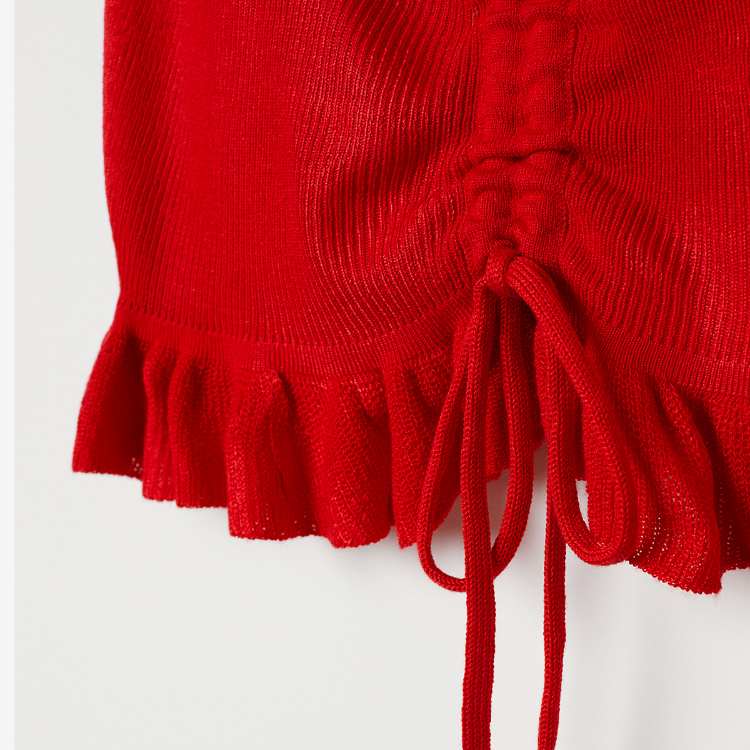 Picture of Fine-knit Drawstring Top