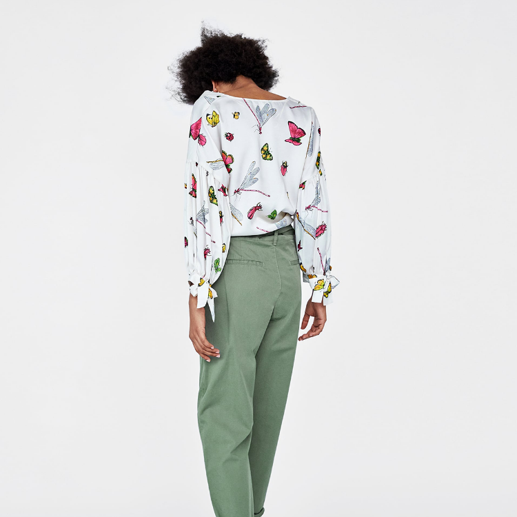Picture of Insect Print Blouse