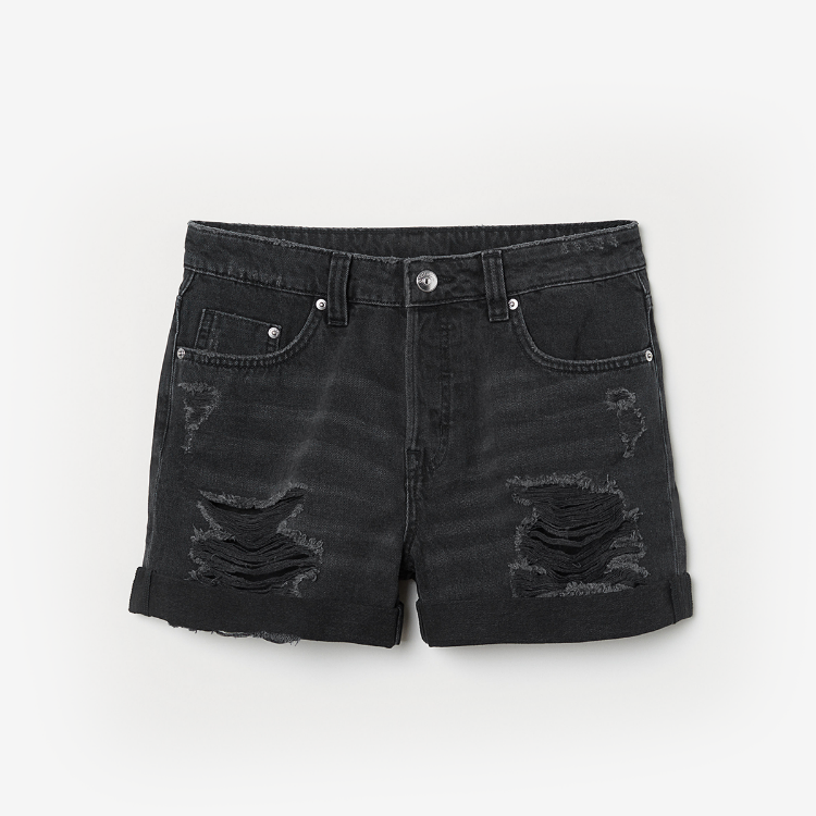 Picture of Black Denim Shorts