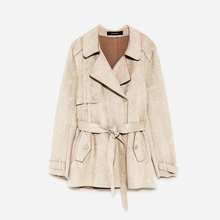 Picture of Suede Trehch Coat